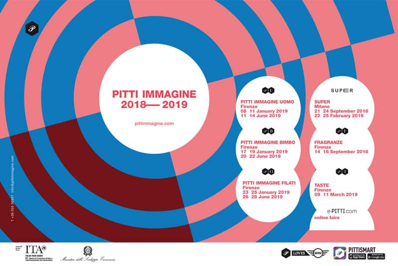 Pitti Immagine 2018 2019 fashion show in Florence and in Milan