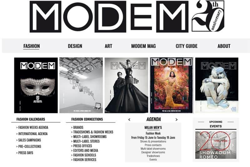 Modem Online 20th anniversary